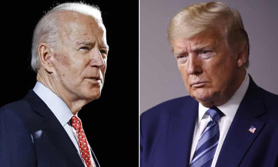 Presidential rivals Joe Biden and Donald Trump.