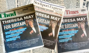 Three of the newspapers running the Tory party ad.