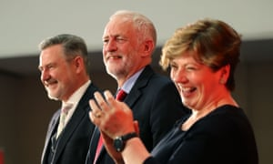 Labour's shadow trade secretary Barry Gardiner, leader Jeremy Corbyn and shadow foreign secretary Emily Thornberry.