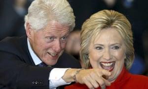 Bill Clinton and Hillary Clinton.