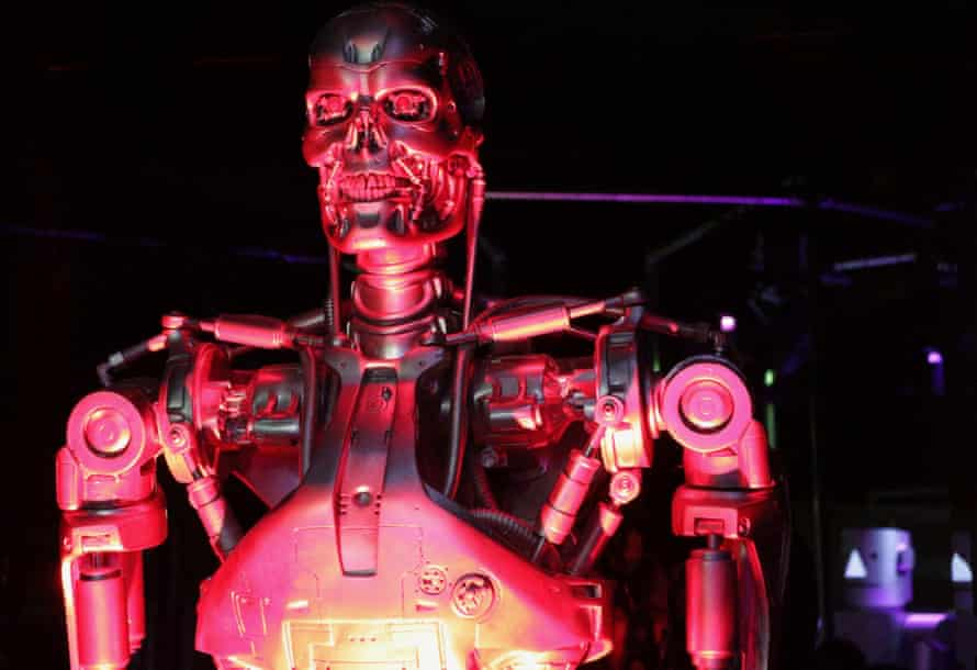 A warning from the future? The T800 from Terminator, watched by an earlier model…
