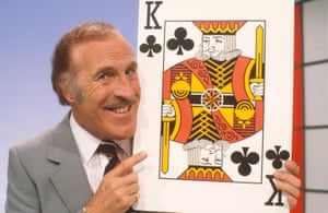 Higher or lower? Brucie on Play Your Cards Right.