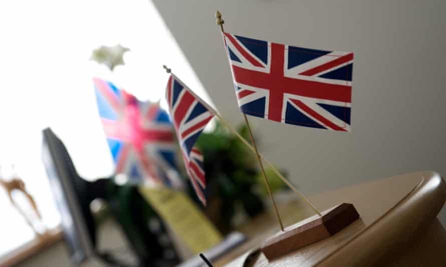 Union Flag at British Citizenship ceremony