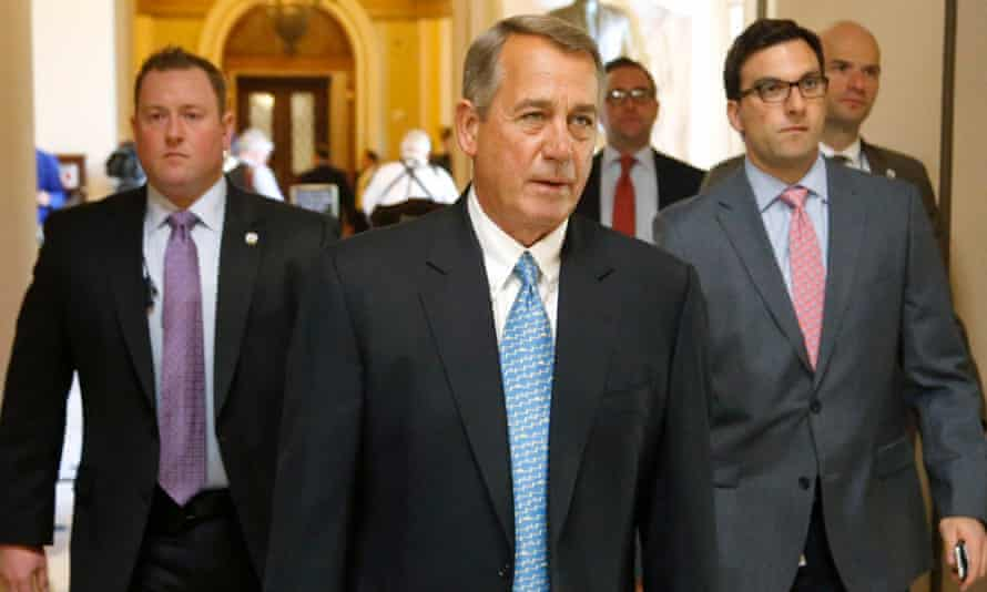 Speaker John Boehner returns to his office after a visit to the House floor.