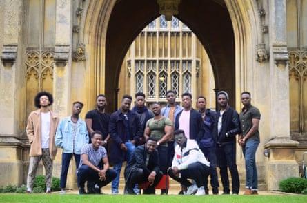 The viral #BlackMenofCambridge photo taken by Cambridge African Caribbean Society.