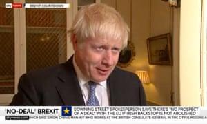 Boris Johnson on Sky News