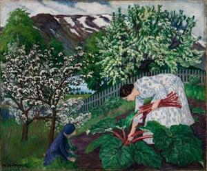 Rhubarb, 1911, by Nikolai Astrup.