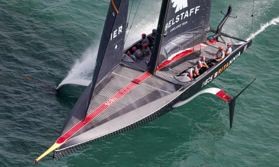 'When you're out on the water one of these sails past and people are just left aghast,' says Ben Ainslie.