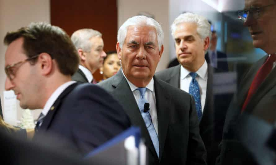 Rex Tillerson, the secretary of state, said on Tuesday of North Korea: 'Can we at least sit down and see each other face to face?'