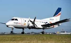A Rex aircraft lands in Sydney