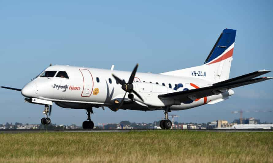 A Regional ExpressSaab 340B aircraft landing. Nationals MPs threatened to cross the floor over an increase in landing fees for regional airlines that were already hit hard by the Covid-19 epidemic.