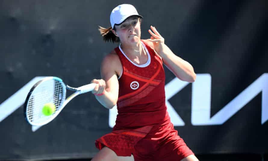 Iga Swiatek takes on Ekaterina Alexandrova at the Gippsland Trophy in Melbourne, Australia.