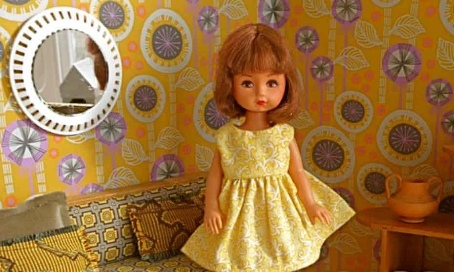 A doll from the Good Golly Miss Dolly vintage doll brand.