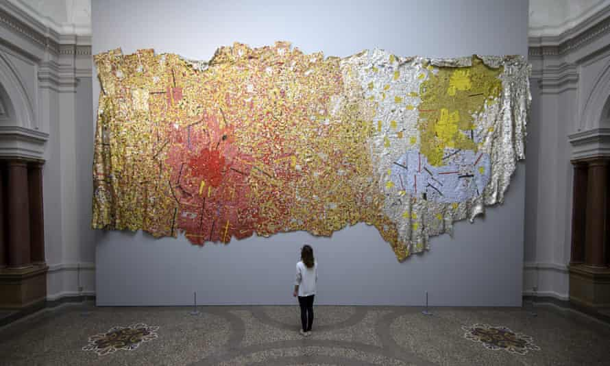 El Anatsui's Gravity and Grace (2010) on display during at the Museum of Arts in Bern, Switzerland, earlier this year.