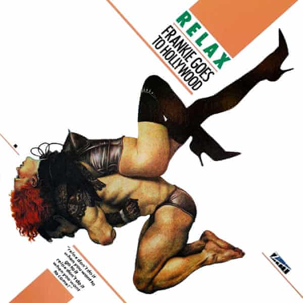 The cover to Relax by Frankie Goes to Hollywood, designed by Watkins' company XL Design