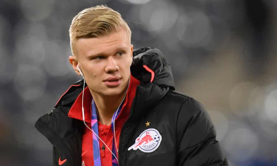 Erling Braut Haaland has scored eight goals in six Champions League games this season.
