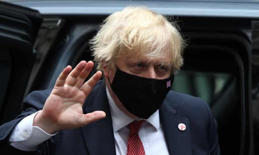 Boris Johnson, waving