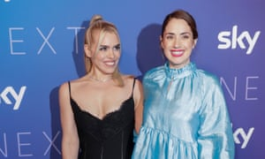 Lucy Prebble, right, with Billie Piper, who stars in I Hate Suzie