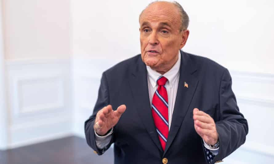 Rudy Giuliani told a furious Trump: 'You've got to go declare victory now,' according to book by Carol Leonnig and Philip Rucker of the Washington Post.