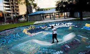 A skate bowl in Tampa, Florida