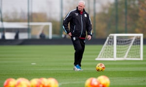 Kevin MacDonald during training at Bodymoor Heath, during one of his spells as Aston Villa's caretaker manager in October 2013