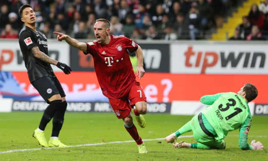 Franck Ribery struck twice against Eintracht Frankfurt.