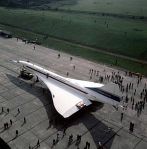 The Filton roll-out of a pre-production Concorde in 1971