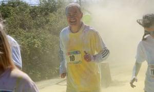 Tim Farron takes part in the annual Kendal colour dash