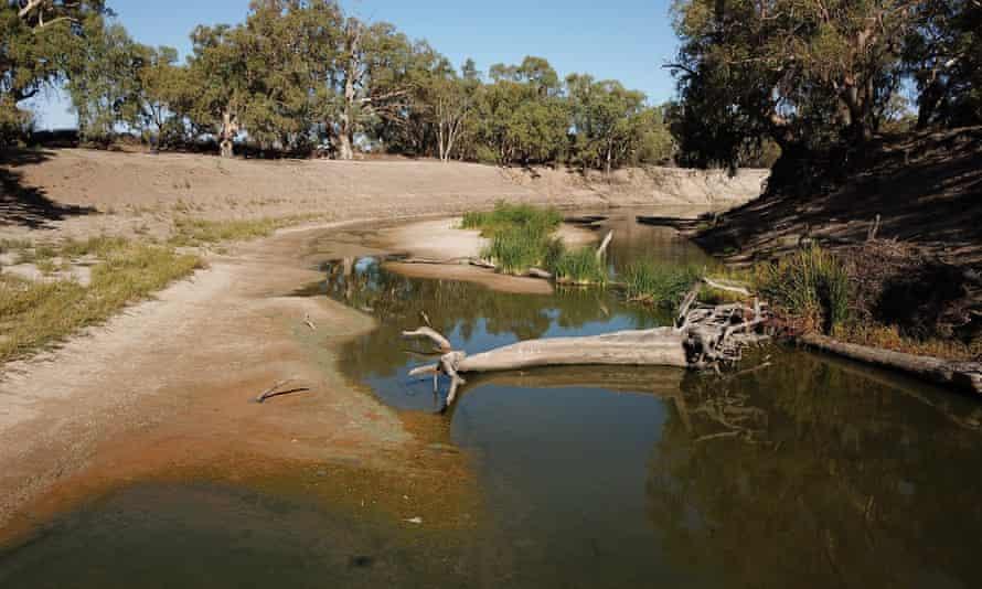 depleted Darling River at Menindee