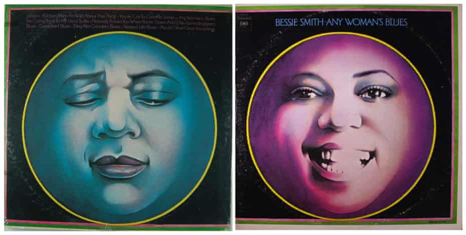 the back and front covers of Bessie Smith's album Any Woman's Blues.