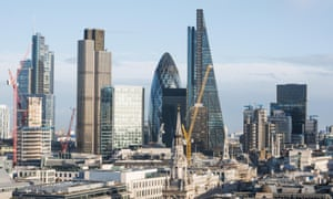New buildings under construction in the City of London as seen from St Paul's cathedral, december 2015.. Image shot 2015. Exact date unknown.<br>Far left is Heron Tower, then left to right tallest buildings are Nat West Tower, Gherkin, Cheesegrater   F8T6RH New buildings under construction in the City of London as seen from St Paul's cathedral, december 2015.. Image shot 2015. Exact date unknown.