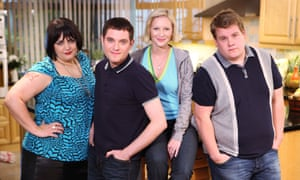 Ruth Jones, Mathew Horne, Joanna Page and James Corden in Gavin and Stacey.