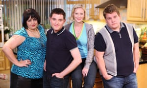 Ruth Jones, Mathew Horne, Joanna Page and James Corden in 'Gavin and Stacey'.