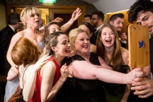 The cast of Our Ladies of Perpetual Succour, which took home the best new comedy award