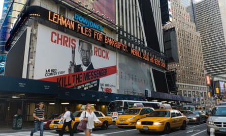 A new ticker about the Lehman Brothers collapse in New York in 2008.