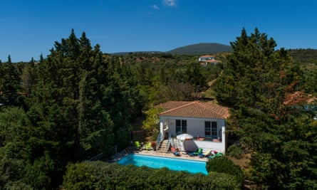 Kalamaki Katerina villa, which has view out to sea across the Bay of Messinia.