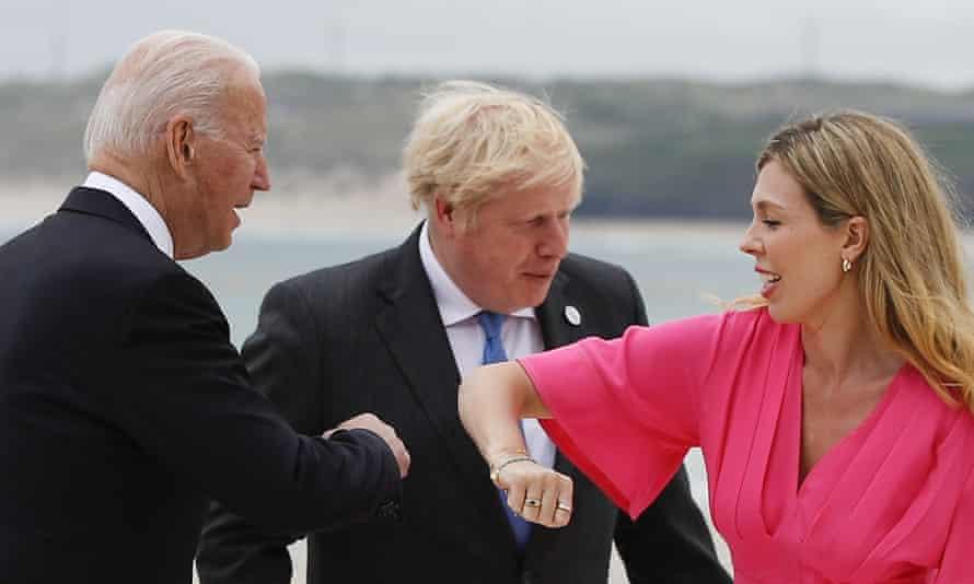 Biden greets Symonds