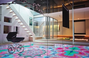 Architect IanHogarth's luxury basement conversion in west London featuring a dancefloor and DJ booth, a cinema, carp pond, the master bedroom with a 'wellness centre'