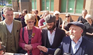 Sheffield tree-felling protesters, from left: Simon Crump, Fran Grace, Benoit Compin and Paul Brooke.