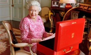 Buckingham Palace released this picture of the Queen, in her private audience room, to mark the day she becomes the longest reigning British monarch.