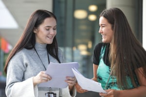 Carson Holt (left) who gained A level results of A*,B,C and has a Project Managers apprenticeship with Highways England and Lauren Brown who achieved A Level results of C,C,C at Psychology, Law and Media and will work in the Home Office Communications Department.