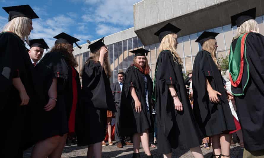 graduation ceremony at Aberystwyth university