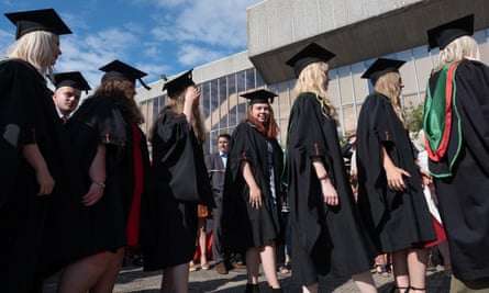 graduation ceremony at Aberystwyth university