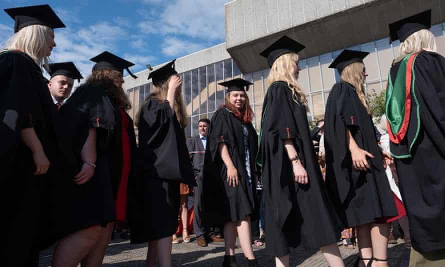 Graduation ceremony at Aberystwyth university, 2019