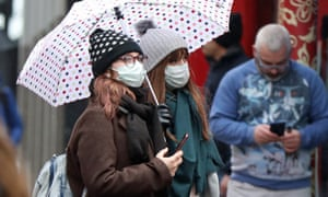 People in face masks