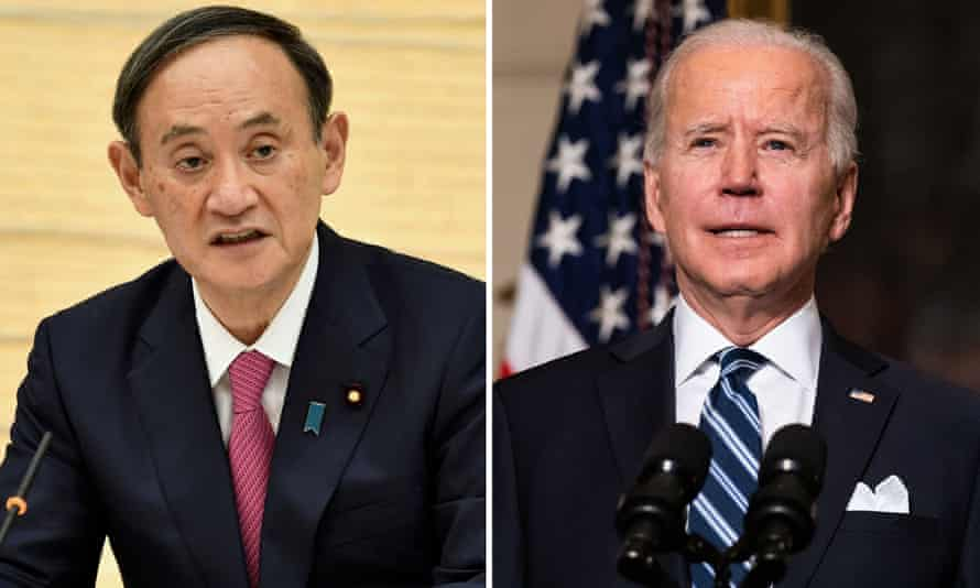 Japan's Prime Minister Suga and President Biden reaffirmed the countries' alliance in a phone call between the two leaders.
