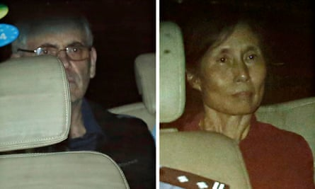 Peter Humphrey and his wife, Yu Yingzeng, leaving court in China in 2014. They were imprisoned on charges of illegally trading in personal information.