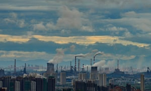 A steel plant in Wuhan in Hubei province in central China.