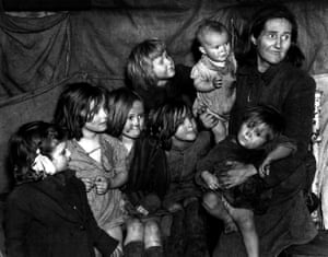 Mother with her seven children, 1948