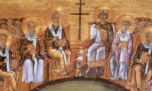 Mark Whittow's book, The Making of Byzantium 600-1025, examined the early history of the Byzantine empire, up to the death of Basil II, seated right by the cross, in this depiction from the 10th century.